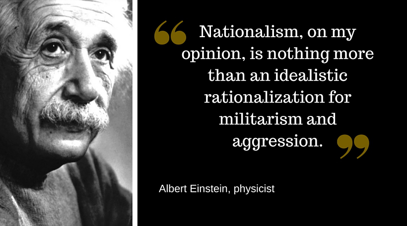 What Were Albert Einstein s Political Opinions    Big Think Einstein quote on Nationalism