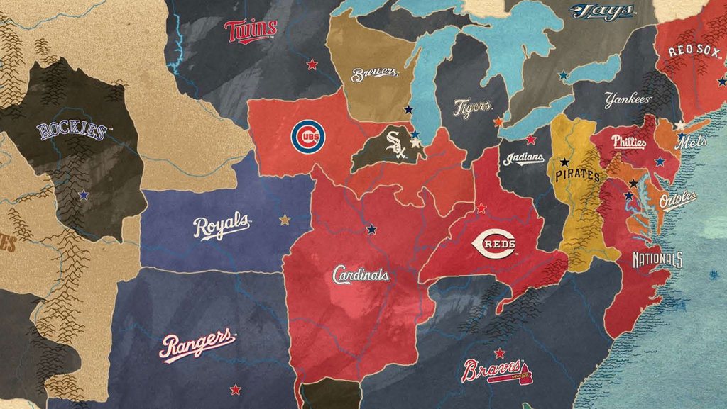 A Map of the United Countries of Baseball   Big Think Although also very popular in East Asia and in other parts of the American  continent  baseball is the quintessential North American sport  early in  the 20th