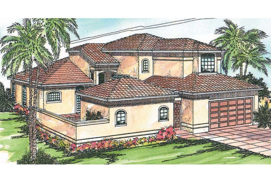 Mediterranean House Plans   Coronado 11 029   Associated Designs Mediterranean House Plan   Coronado 11 029   Front Elevation