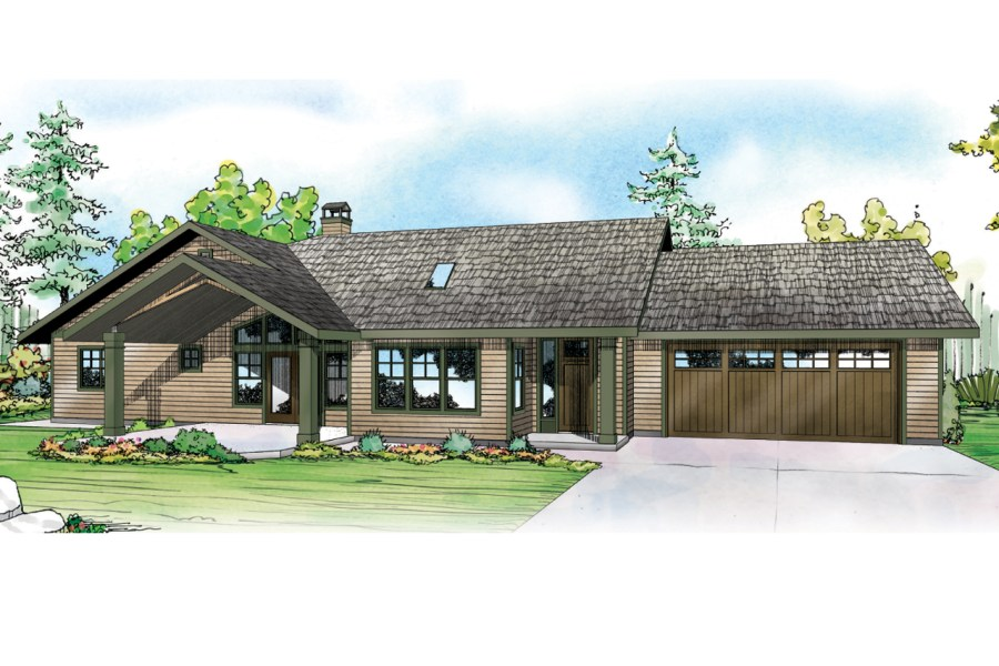 Ranch House   Home Plans  Modern Floor Plans   Associated Designs     Ranch House Plan   Elk Lake 30 849   Front Elevation
