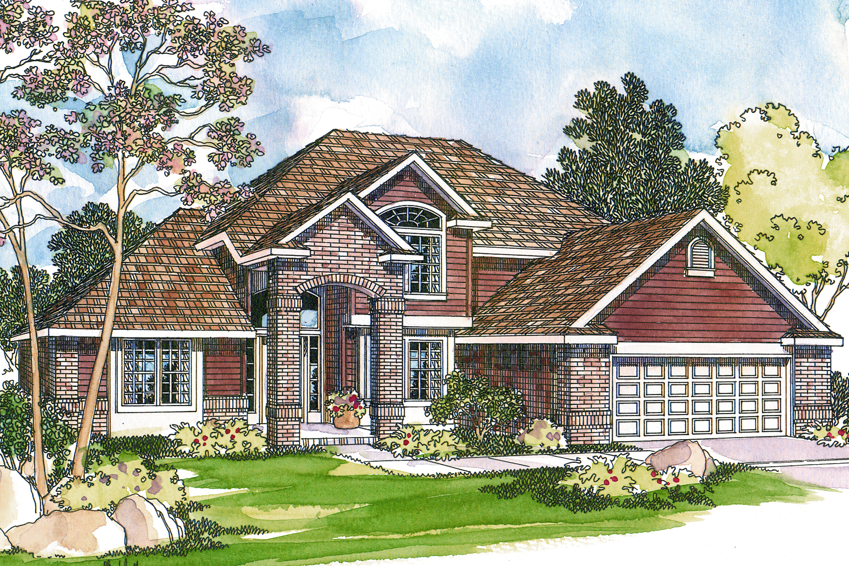 Traditional House Plans   Coleridge 30 251   Associated Designs Traditional House Plan   Coleridge 30 251   Front Elevation