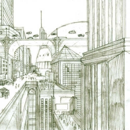 future architecture drawing - 500×500