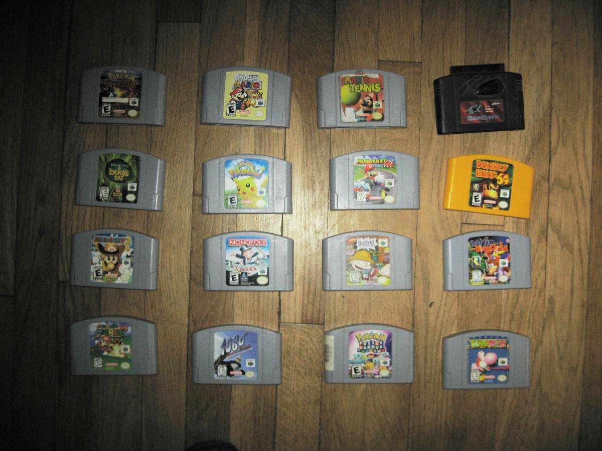 Fs N64 15 Games Paper Mario Mario Party Mario Cart
