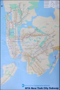 NEW YORK SUBWAY Map   Athena Posters ER3094 NEW YORK SUBWAY Map