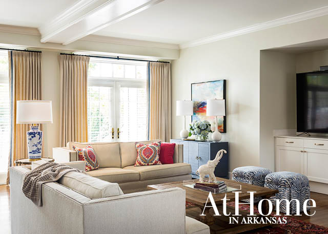 An Updated Classic   At Home in Arkansas For interior spaces  designers Rowland and Rawlings began with a light and  airy color palette     Everything used to be red and gold   cardinal and  straw   the
