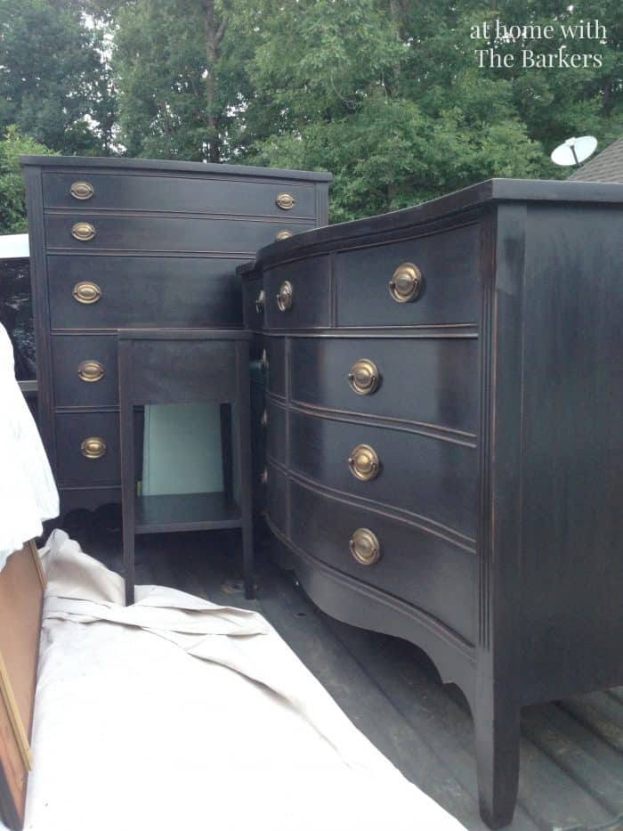 Blue And Graphite Annie Sloan Painted Furniture
