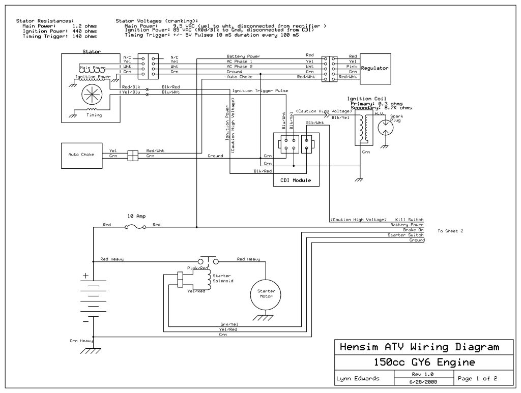 Engine Wiring Diagram In Addition Roketa 250cc Go Kart 150