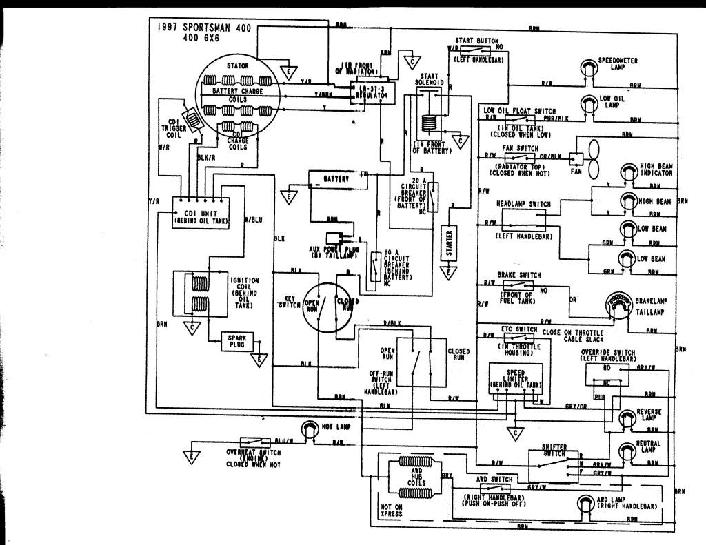 95 Yamaha Kodiak 400 4x4 Wiring Diagram