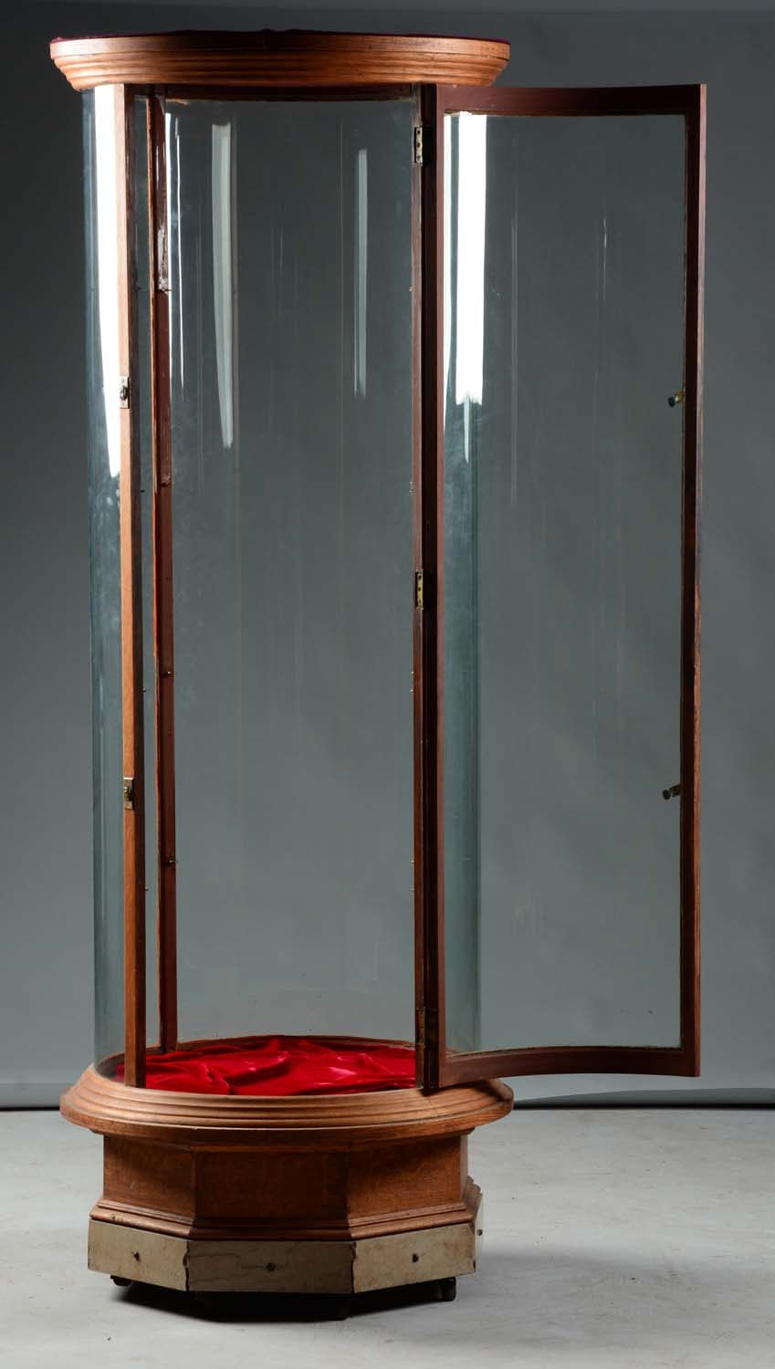 Lot Detail Tall Round Glass Display Case