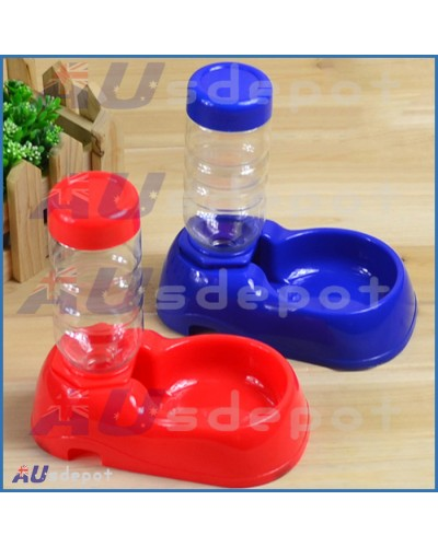 Pet Dog Cat Drinking Water Fountain Bottle Feeder Stand