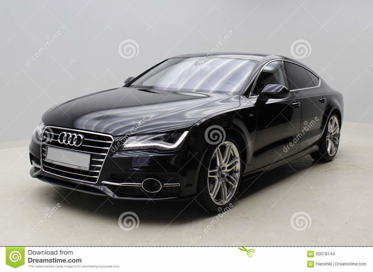 Latest Black Audi A7 On Grey Background Editorial Stock Image Free Download