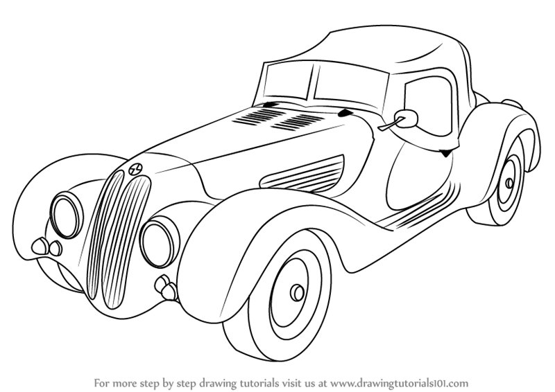 Latest Learn How To Draw Vintage Bmw Roadster Vintage Step By Free Download
