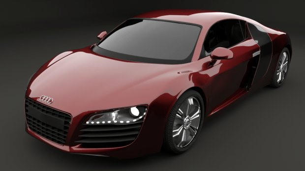 Latest Audi R8 Free 3D Models Free Download