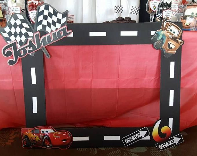 Latest Disney Cars Photo Booth Frame Ray Mcqueen Níver Do Free Download