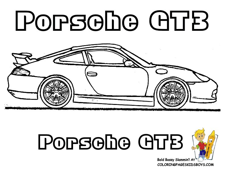 Latest Porsche Gt3 Car Coloring Pages You Can Print Out Http Free Download Original 1024 x 768