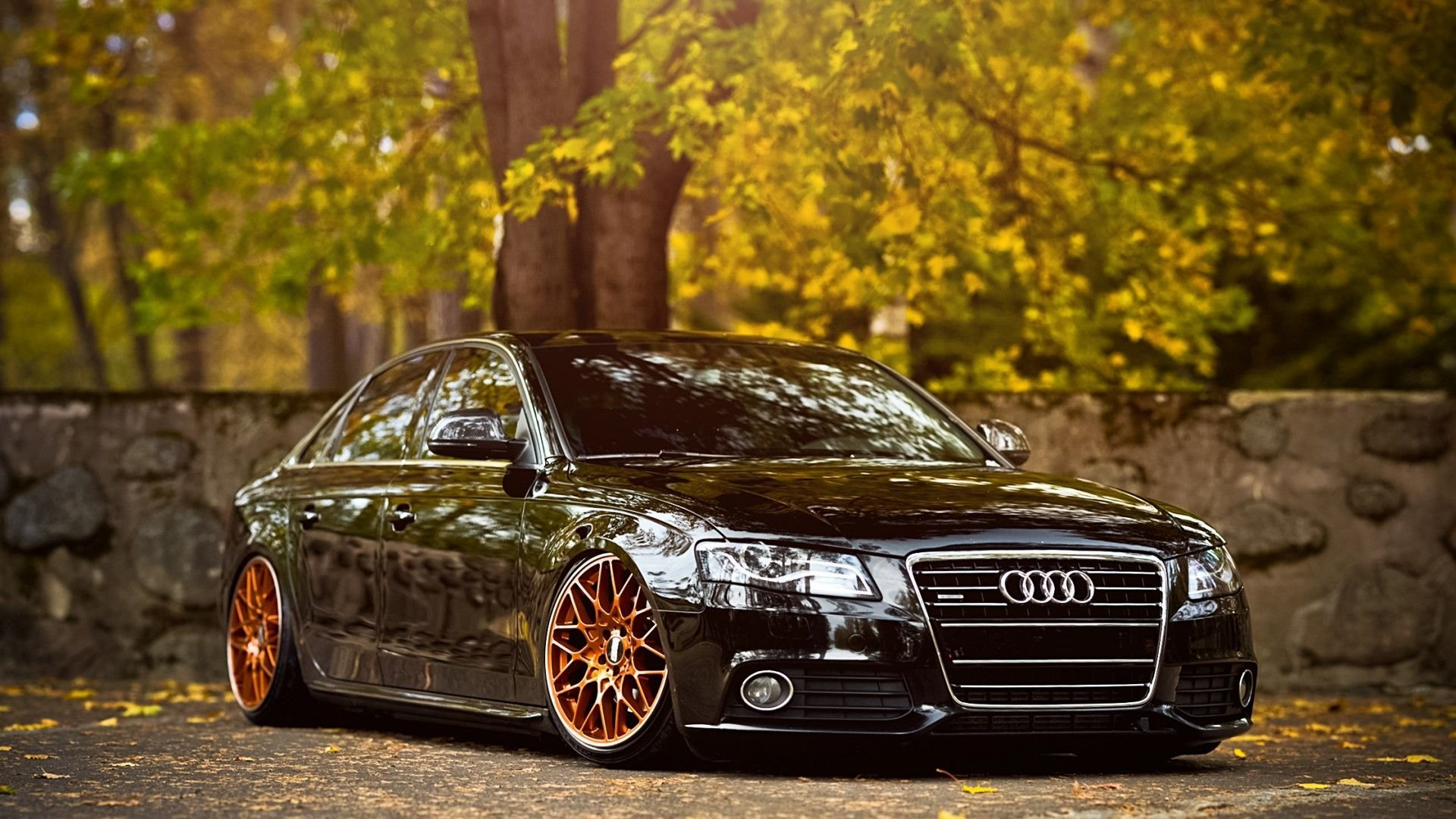 Latest Black Car Copper Wheels Cars Car Wallpapers Audi Free Download
