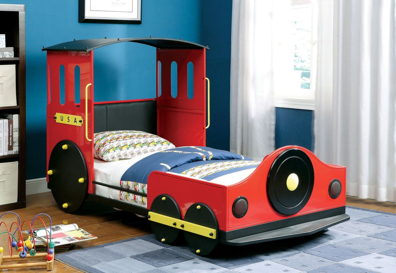 Latest Retro Train Twin Metal Car Bed Frame Theme Beds For Kids Free Download