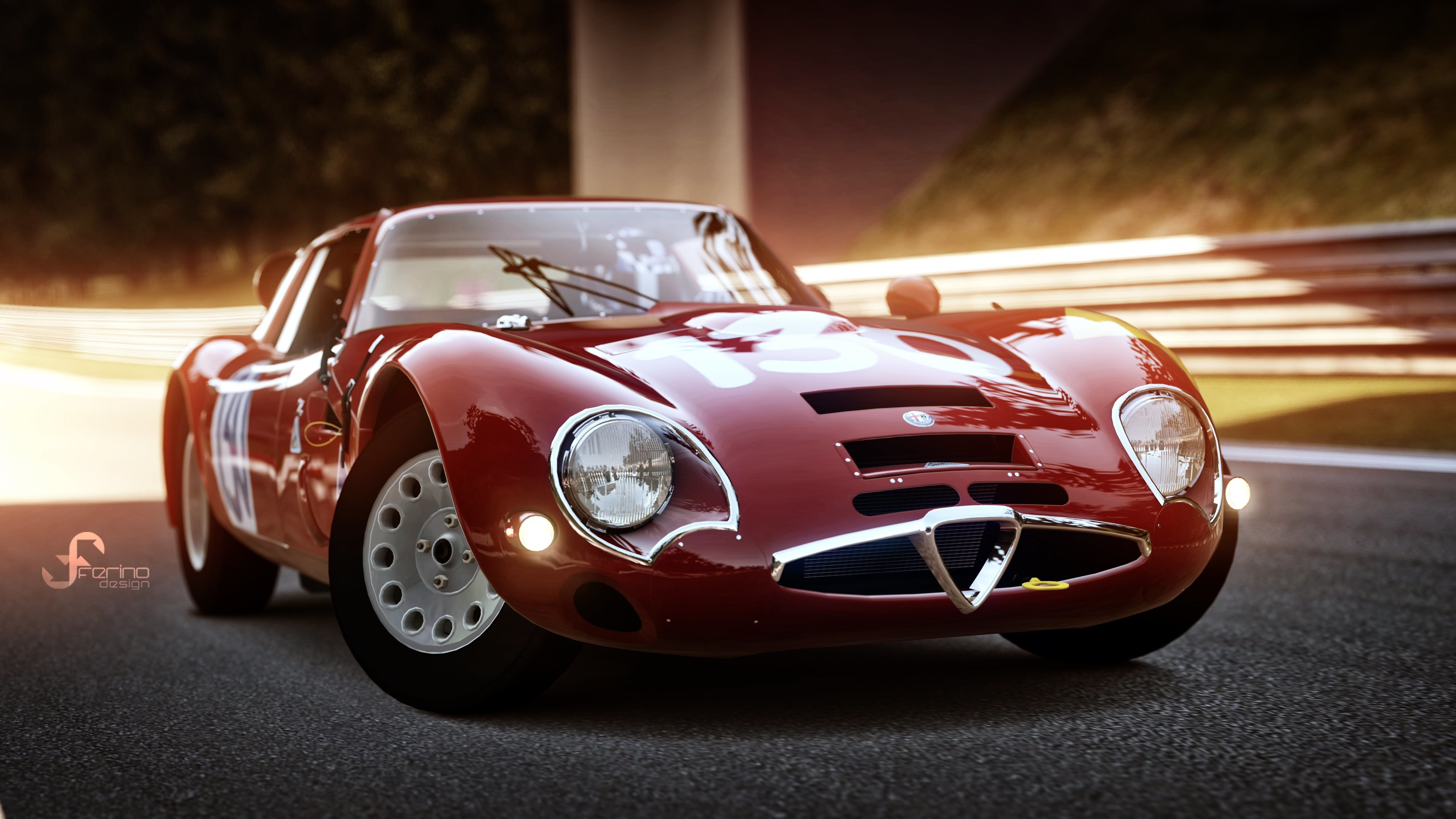 Latest 1965 Alfa Romeo Giulia Tz2 Gran Turismo 4K Wallpapers Free Download