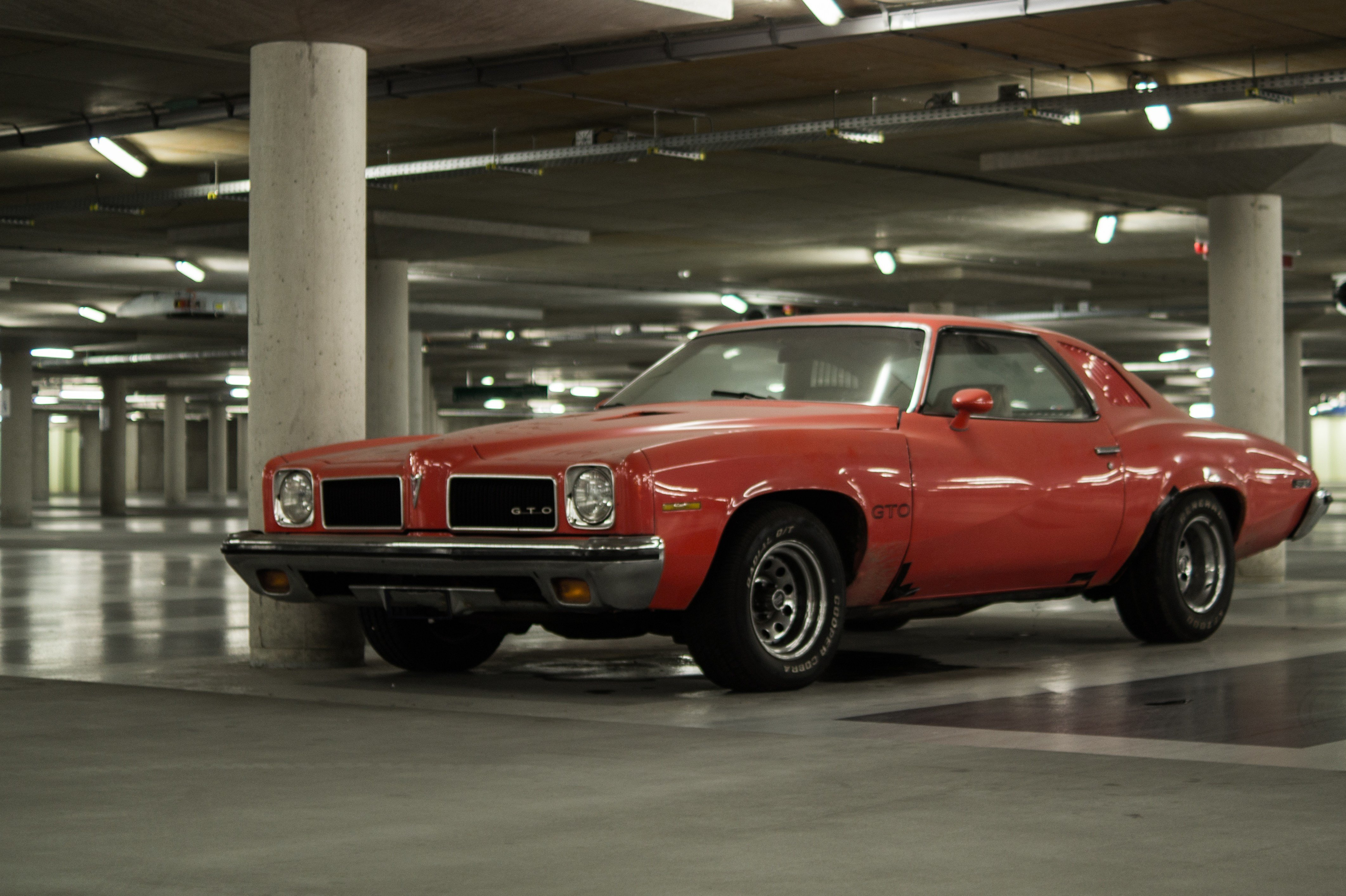 Latest Classic Red Coupe Park Inside Building · Free Stock Photo Free Download