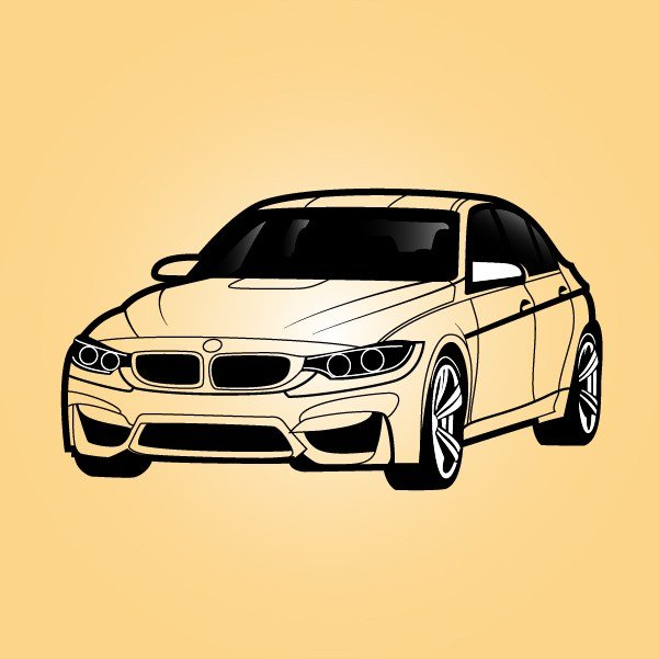 Latest Black White Bmw Sedan Car Vector Download Free Download