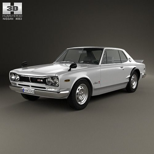 Latest Nissan Skyline C10 Gt R Coupe 1970 3D Cgtrader Free Download