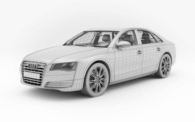 Latest Car Audi A8 3D Model Cgtrader Free Download