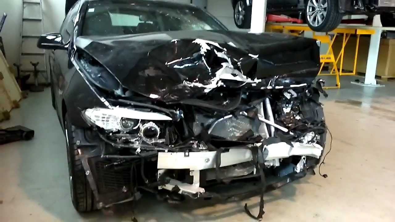 Latest Bmw 5 Series F10 2012 Frontal Crash Youtube Free Download