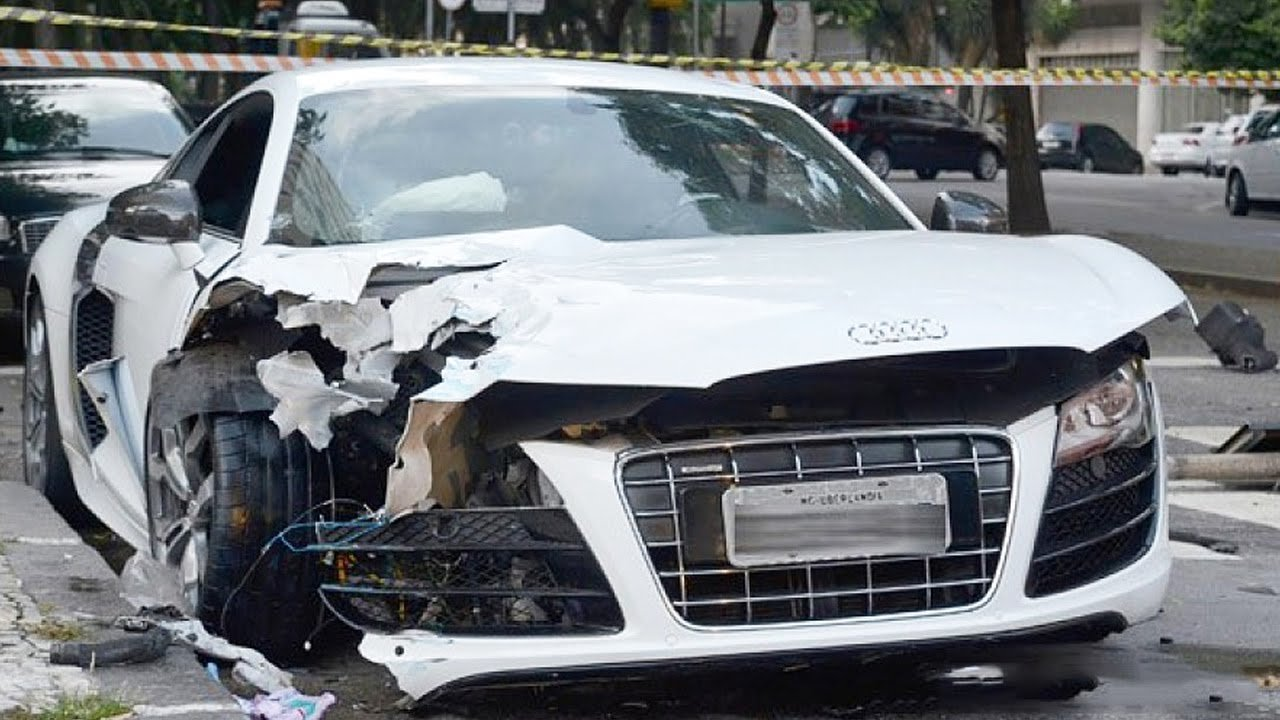 Latest Car Accident Of Audi R8 Road Crash Free Download