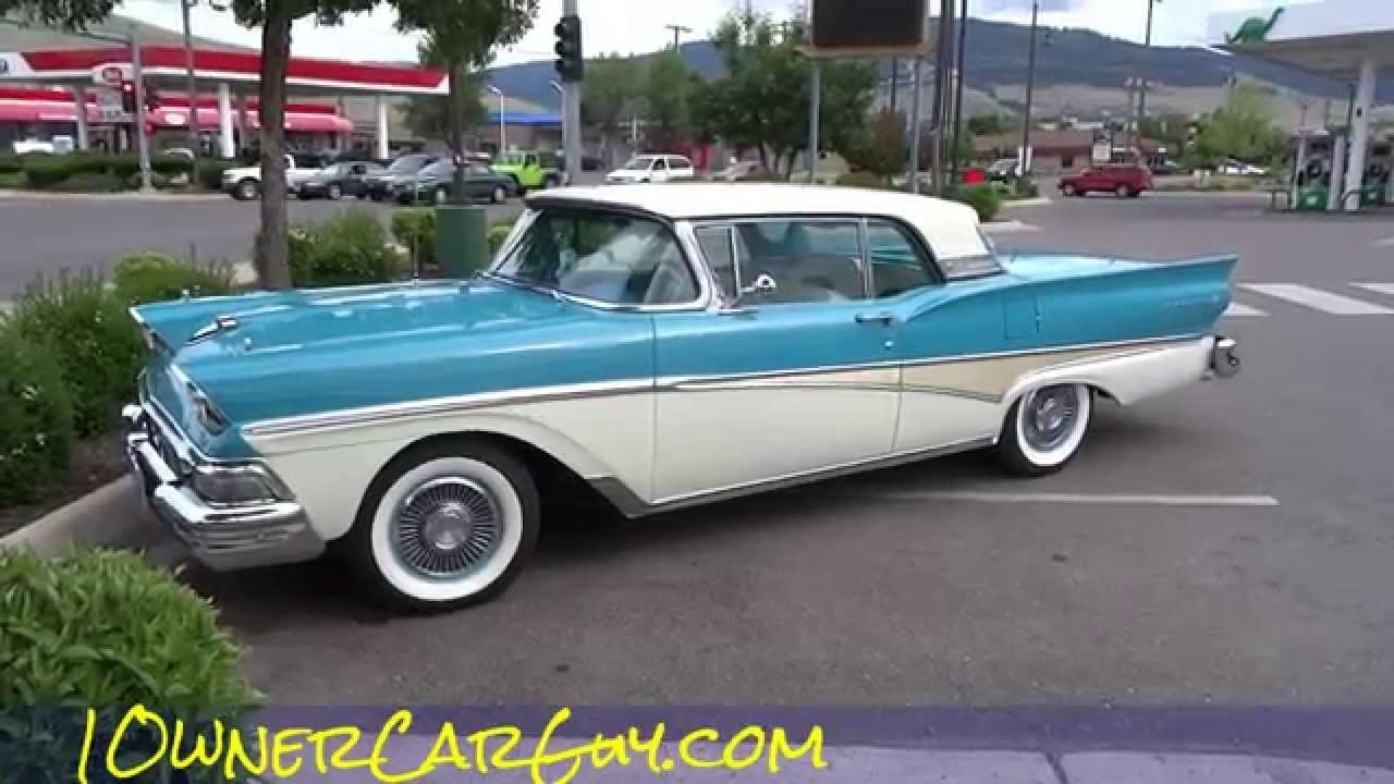 Latest 1958 Ford Fairlane 500 Skyliner Galaxie Convertible Free Download