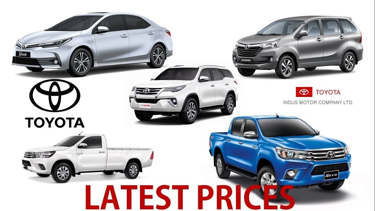 Latest Toyota All Cars Prices In Pakistan Latest September Free Download
