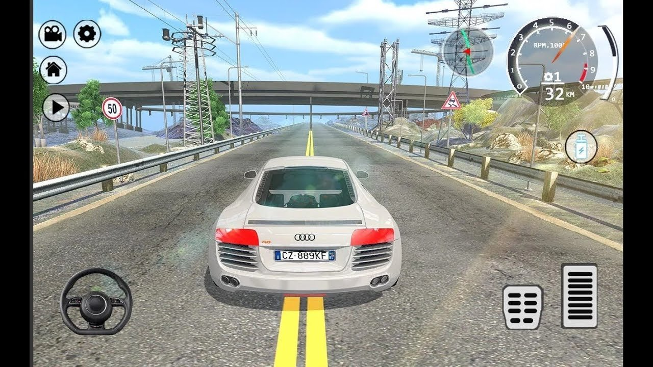 Latest Drift Simulator Audi R8 Sports Car Racing Games Free Download