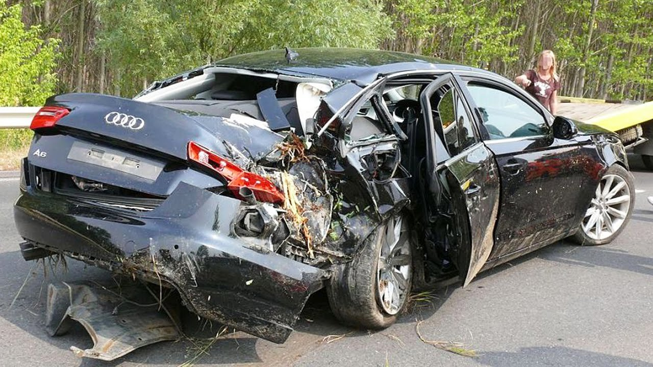 Latest Car Accident Of Audi A6 Road Crash Free Download