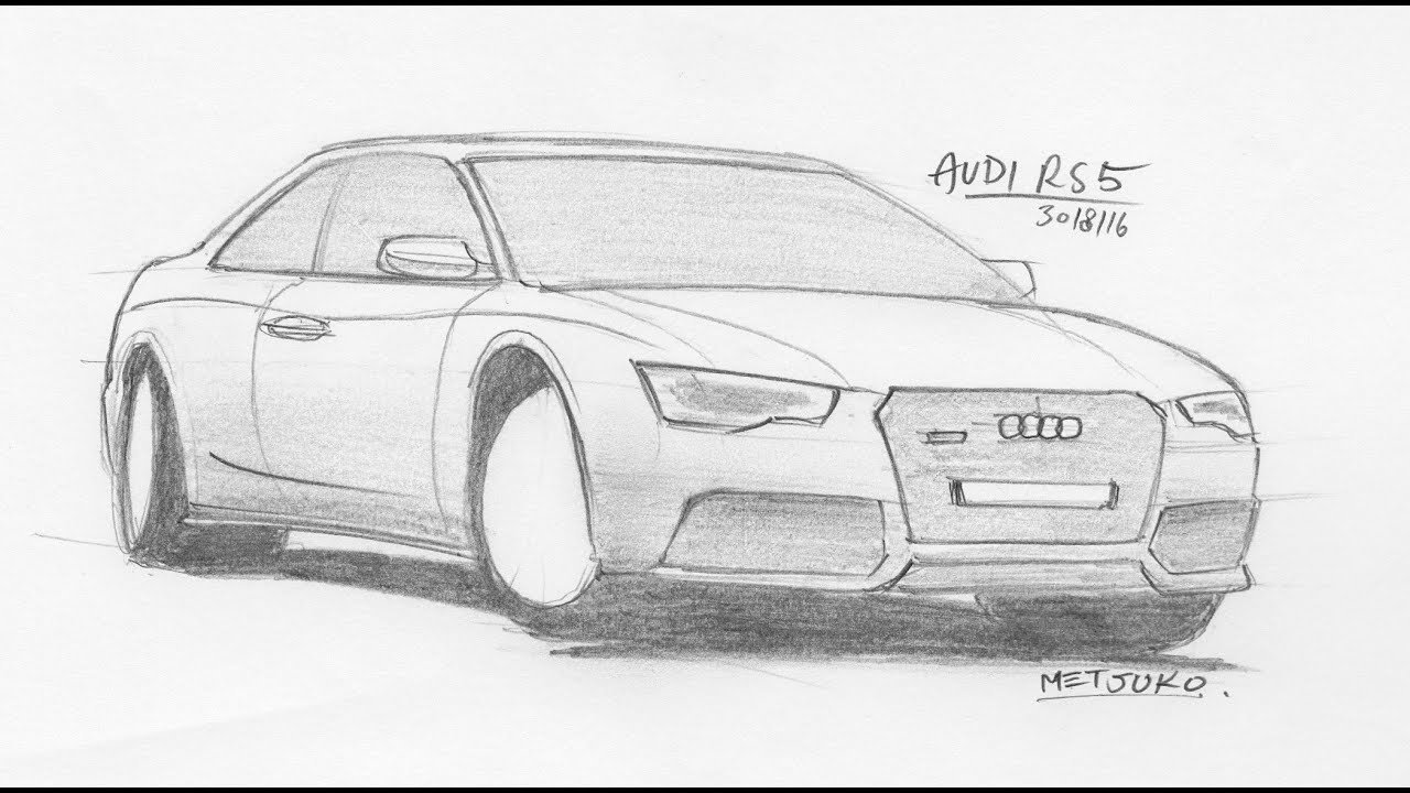 Latest Tutorial Drawing Cars In Your Spare Time Audi Rs5 Free Download