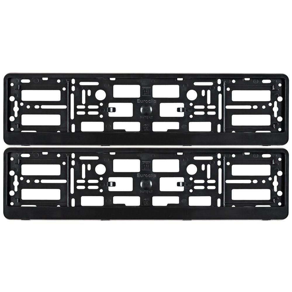 Latest 2X Black Number Plate Surrounds Holder Frame For Any Audi Free Download