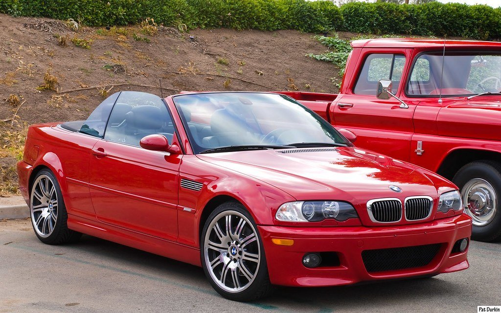 Latest 2004 Bmw M3 Convertible With Top Down Red Fvr Cars Free Download