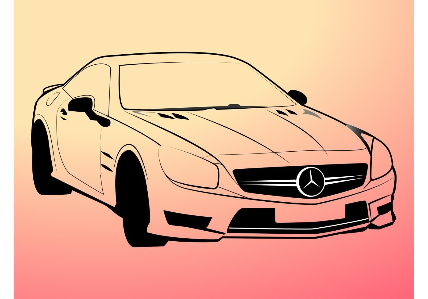 Latest Mercedes Benz Outlines Download Free Vector Art Stock Free Download