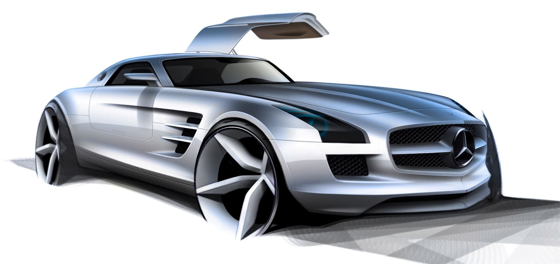 Latest Mercedes Benz Sketches Free Download