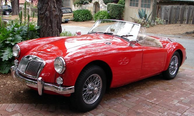 Latest Cars For Your Wedding 1959 Mg A Red 1950S Car Fifties Free Download