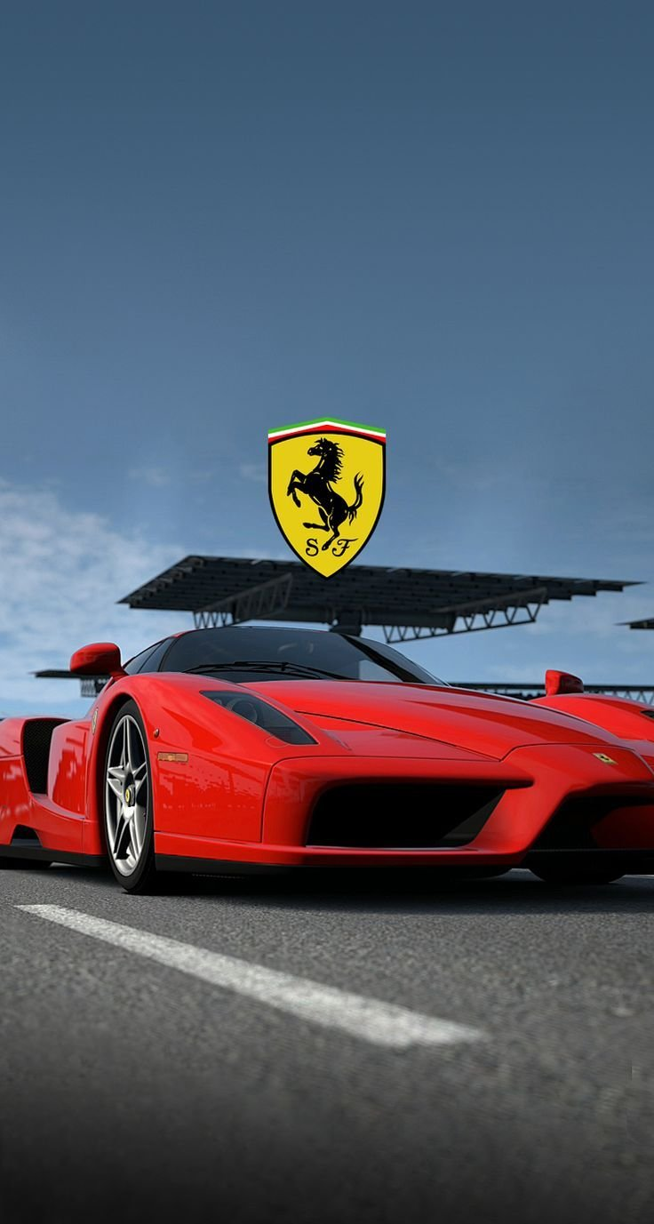 Latest Red Ferrari With Logo Wallpaper Free Mobile Phone Free Download