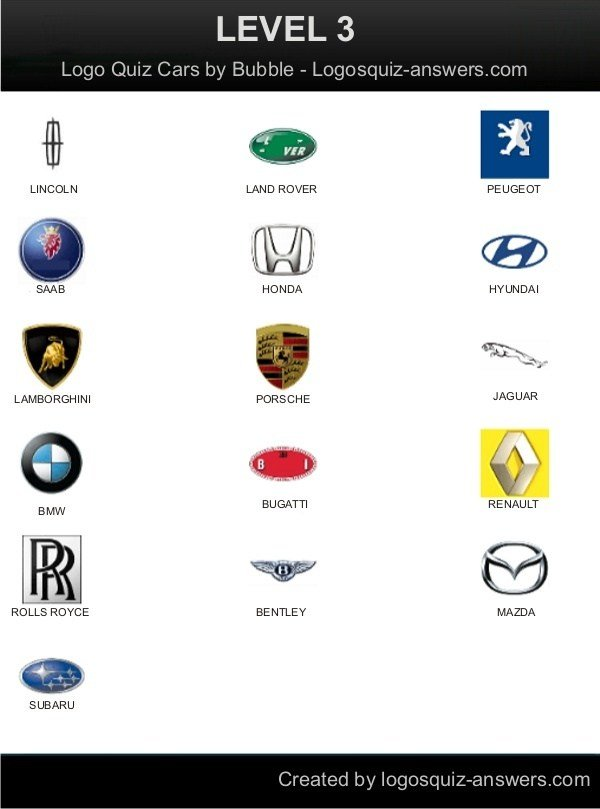 Latest 17 Best Images About Car Logo Quiz Answers On Pinterest Free Download Original 1024 x 768