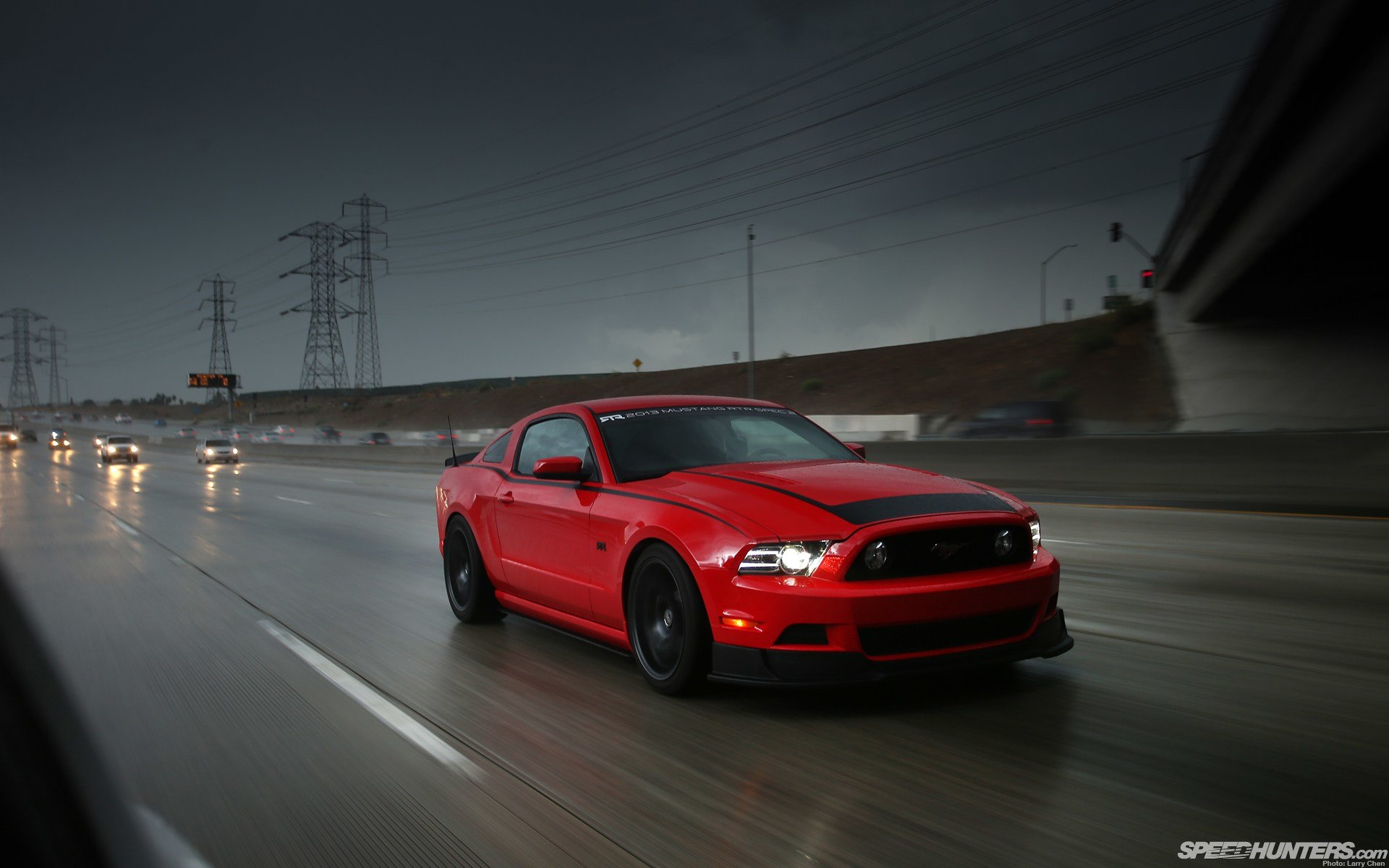 Latest Ford Mustang Highway Road Cars Vehicles Wallpaper Free Download