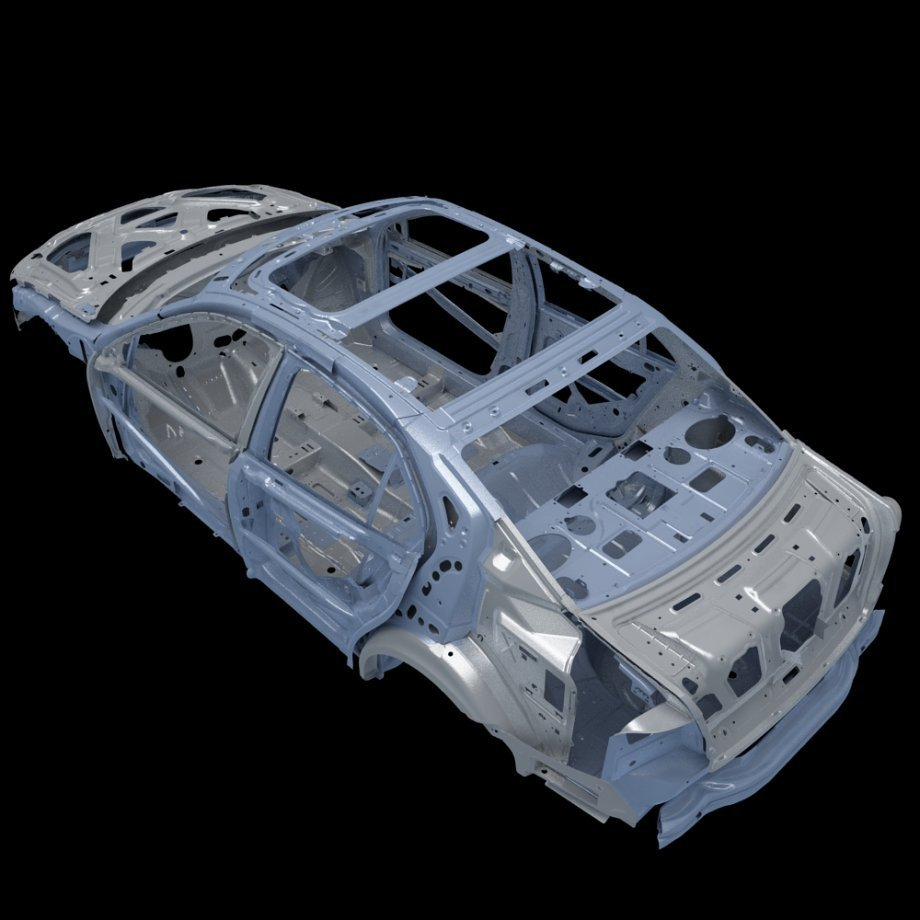 Latest Car Frame 01 For Audi A8 3D Model Cgstudio Free Download