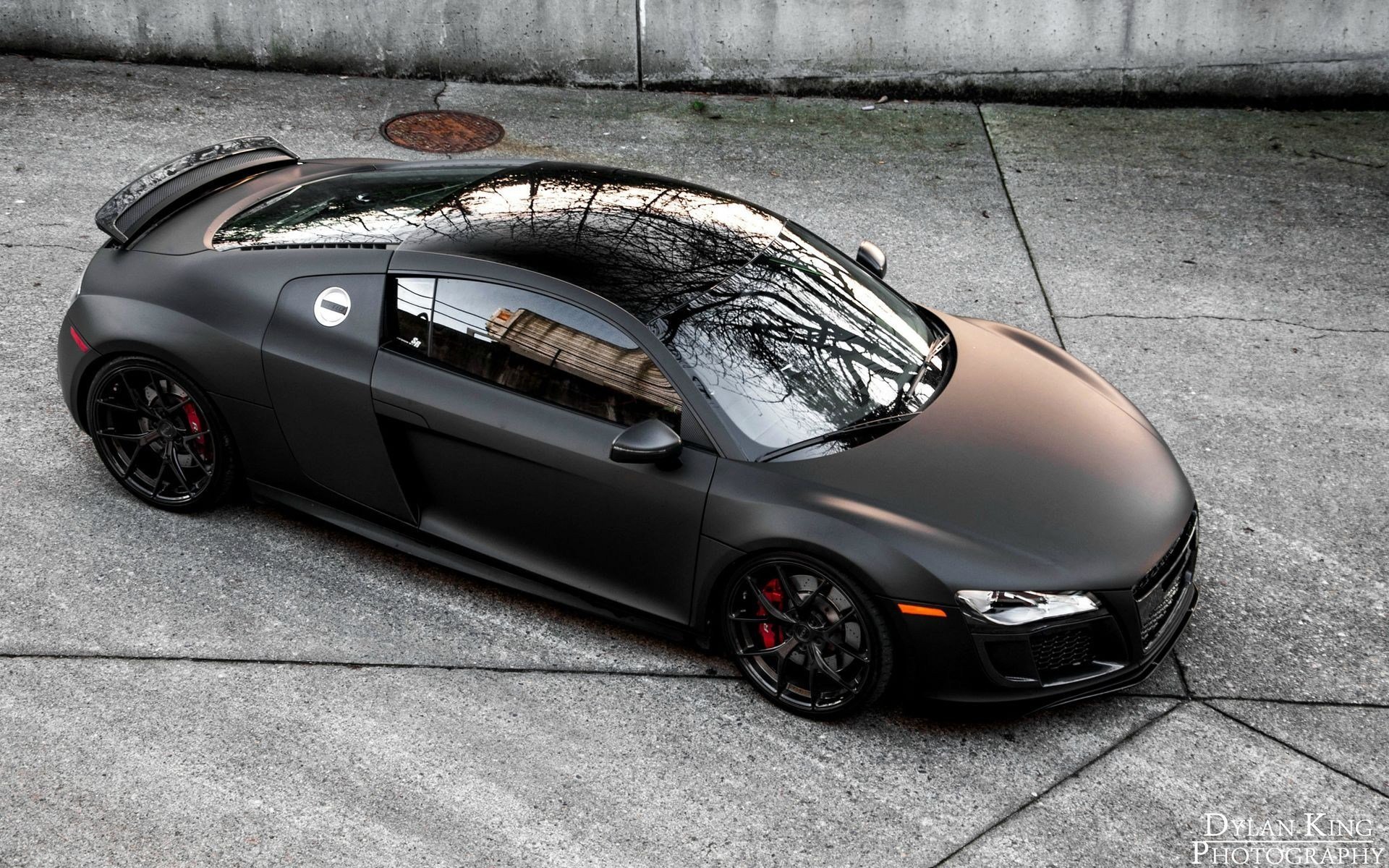 Latest Car Audi R8 Matte Black Audi Wallpapers Hd Desktop Free Download