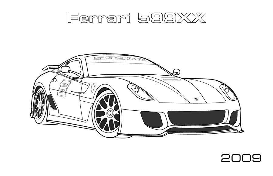 Latest Ferrari Coloring Pages To Download And Print For Free Free Download Original 1024 x 768