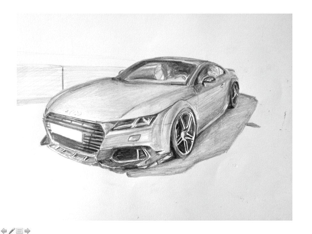 Latest Audi Tt Car Drawing By Kjvthebeast On Deviantart Free Download