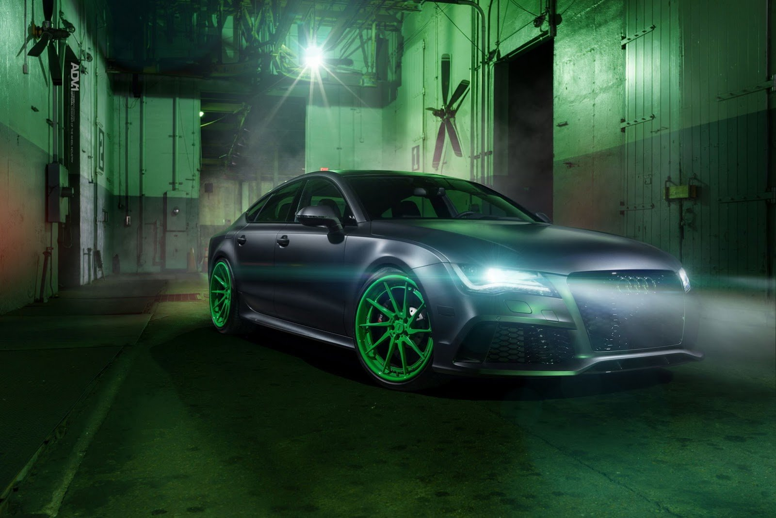 Latest Audi Rs7 Drops The Mic On Matte Green Custom Wheels Free Download