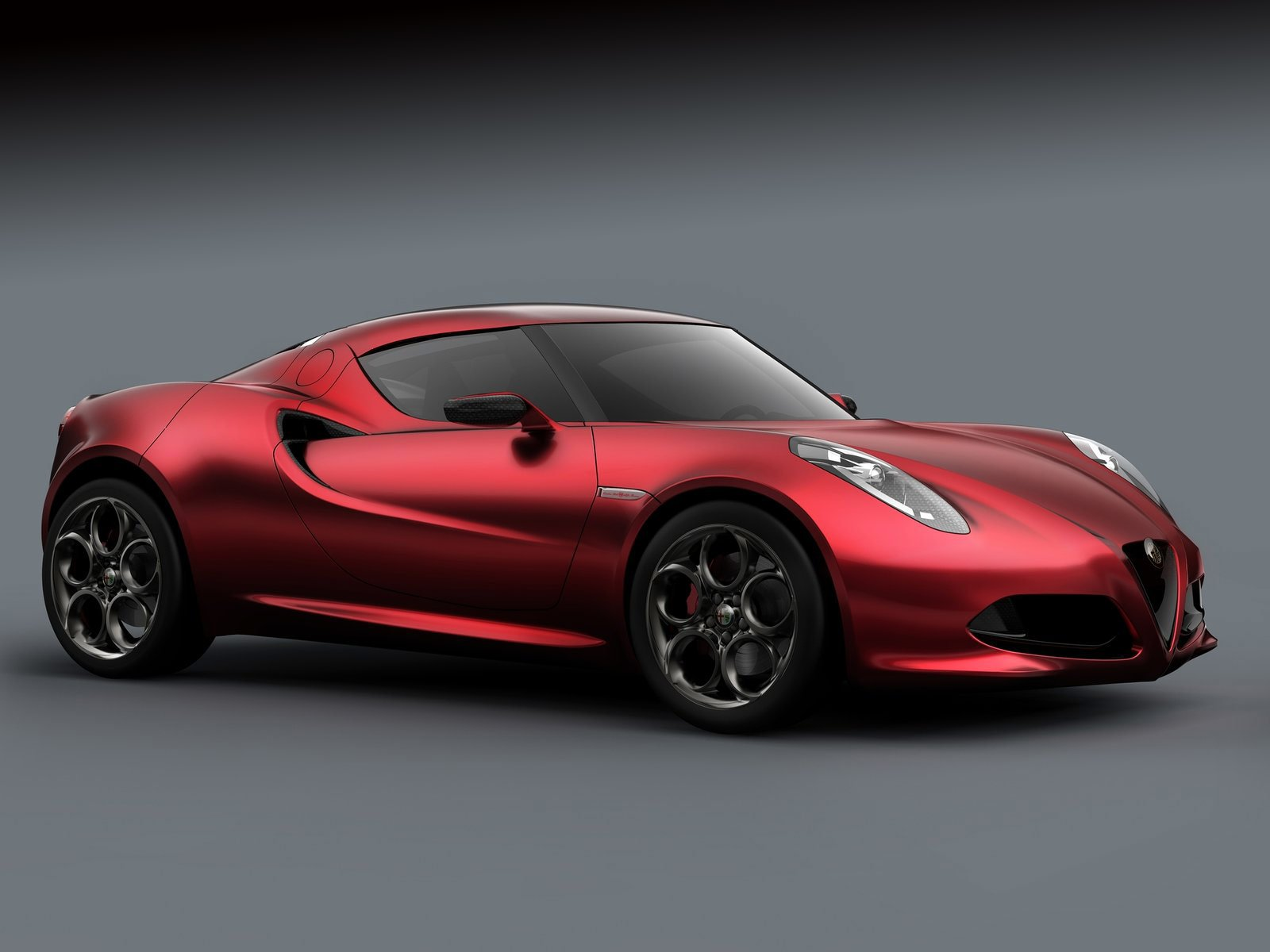 Latest 2011 Alfa Romeo 4C Concept Car Desktop Wallpapers Free Download