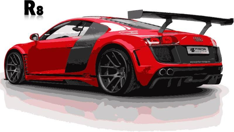 Latest Red Audi R8 Car Vector Free Download