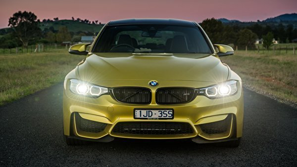 Latest Images Bmw M3 F80 Gold Color Cars Front Free Download