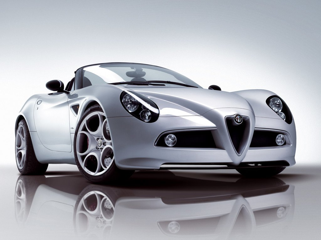 Latest Sport Car Alfa Romeo 8C Free Download